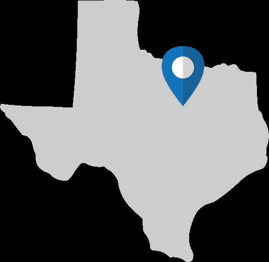 Texas Map - Frisco