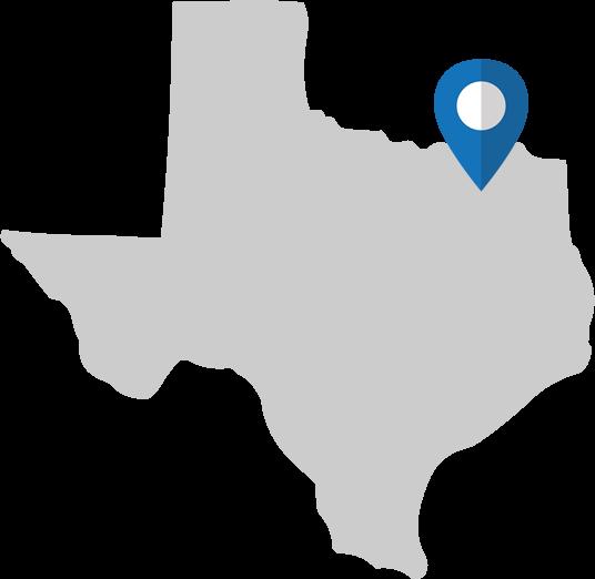 Texas Map - McKinney