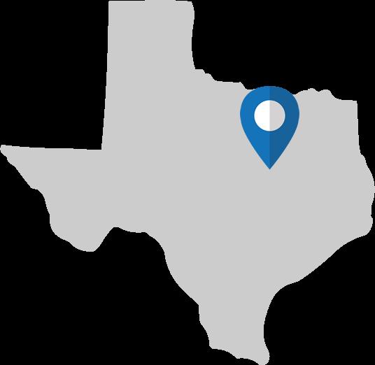Texas Map - Plano