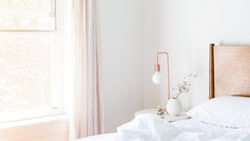 Light pink bedroom in Plano, TX